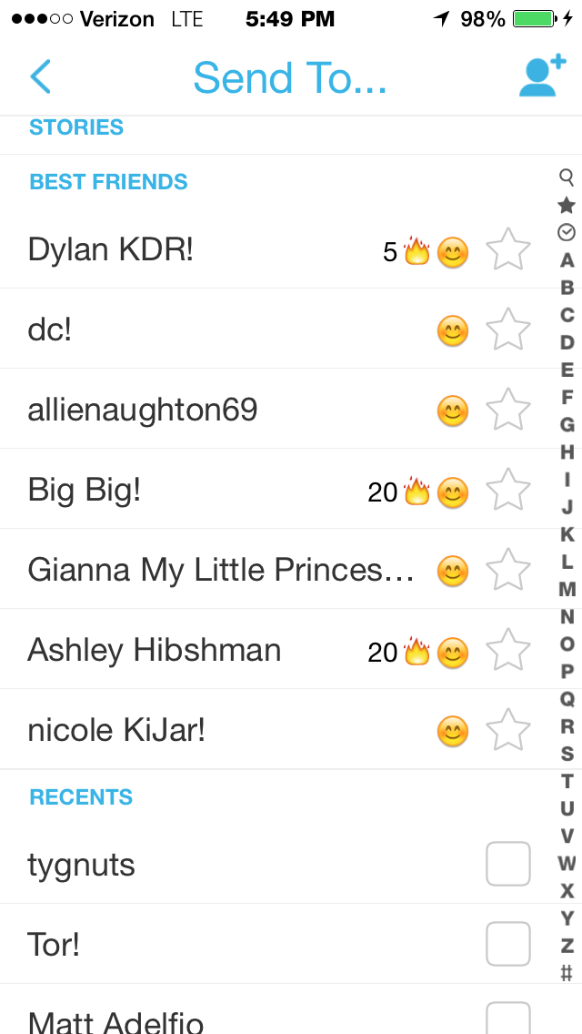 What does a streak mean on snapchat